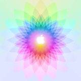 Apple logo colorful