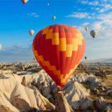 Landscape balloon sky blue