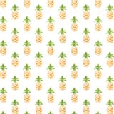 Pattern illustration fruit pineapple greenish yellow women-friendly