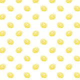 Pattern illustration fruit lemon yellow women for