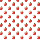 Pattern illustration fruit apple red women-friendly