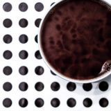 Coffee cup dot black and white