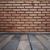 Brick wall floorboards