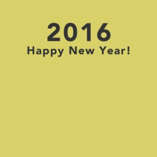 happy news year 2016 yellow wallpaper iPhone4s Wallpaper