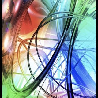 Spiral colorful iPhone5s / iPhone5c / iPhone5 Wallpaper
