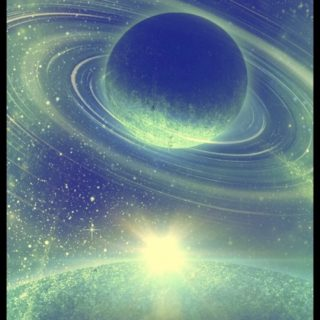Planetary light iPhone5s / iPhone5c / iPhone5 Wallpaper