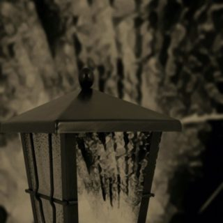 Lantern black and white iPhone5s / iPhone5c / iPhone5 Wallpaper