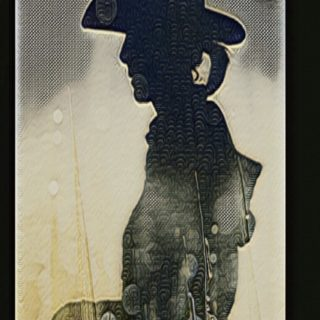 Cowboy silhouette iPhone5s / iPhone5c / iPhone5 Wallpaper