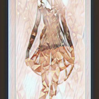 women mosaic iPhone5s / iPhone5c / iPhone5 Wallpaper