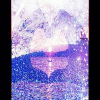 Heart Landscape iPhone5s / iPhone5c / iPhone5 Wallpaper