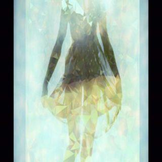 Women silhouette iPhone5s / iPhone5c / iPhone5 Wallpaper
