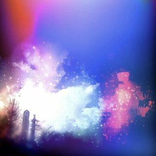 Night scenery light iPhone5s / iPhone5c / iPhone5 Wallpaper