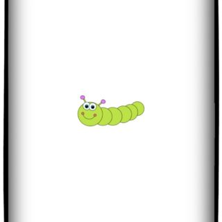 Caterpillar illustration iPhone5s / iPhone5c / iPhone5 Wallpaper