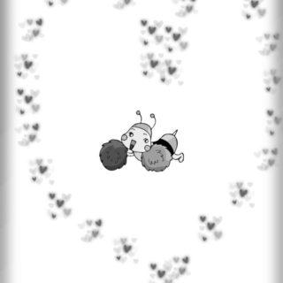 Bee Heart iPhone5s / iPhone5c / iPhone5 Wallpaper
