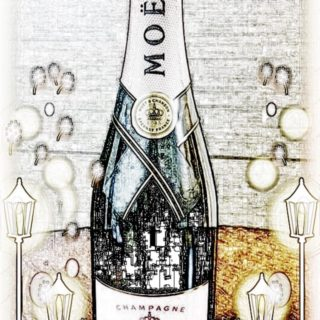 Moet et Chandon sketch iPhone5s / iPhone5c / iPhone5 Wallpaper