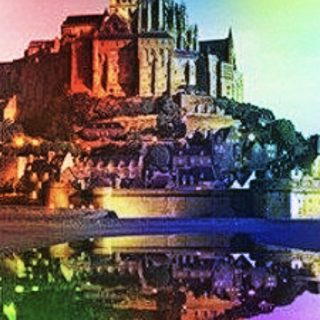 Mont Saint Michel colorful iPhone5s / iPhone5c / iPhone5 Wallpaper