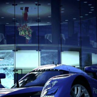 Vehicle car blue iPhone5s / iPhone5c / iPhone5 Wallpaper