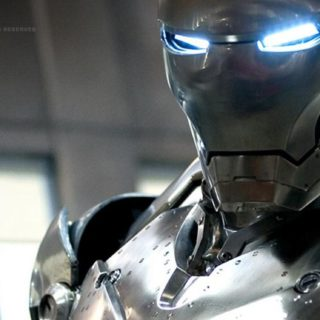 Character Iron Man silver iPhone5s / iPhone5c / iPhone5 Wallpaper