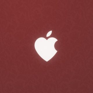 Apple Heart red iPhone5s / iPhone5c / iPhone5 Wallpaper