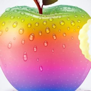 Apple water droplets iPhone5s / iPhone5c / iPhone5 Wallpaper