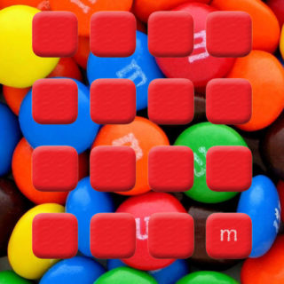 Colorful cute red shelf chocolate iPhone5s / iPhone5c / iPhone5 Wallpaper