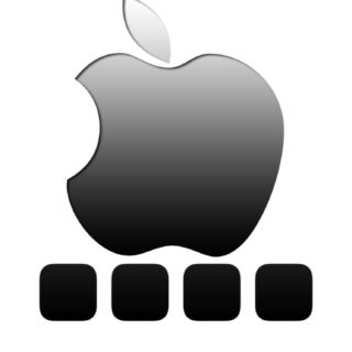 Shelf apple cool black ash iPhone5s / iPhone5c / iPhone5 Wallpaper