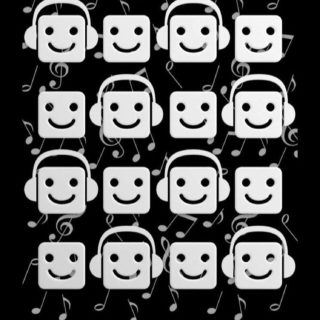 Shelf black-and-white character music note iPhone5s / iPhone5c / iPhone5 Wallpaper