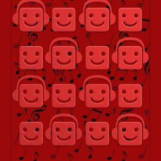 Shelf Chara music red note iPhone5s / iPhone5c / iPhone5 Wallpaper
