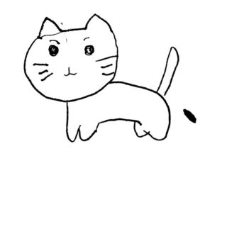 Illustrations cat white iPhone5s / iPhone5c / iPhone5 Wallpaper