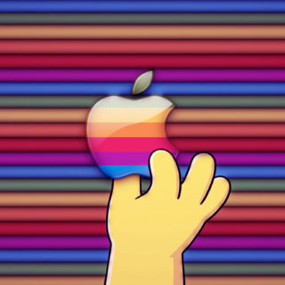 Apple logo colorful hand iPhone5s / iPhone5c / iPhone5 Wallpaper