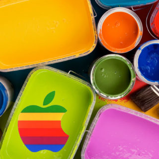 Apple logo colorful iPhone5s / iPhone5c / iPhone5 Wallpaper