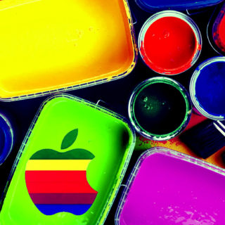Apple logo colorful cool iPhone5s / iPhone5c / iPhone5 Wallpaper