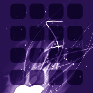 Apple logo shelf cool purple iPhone5s / iPhone5c / iPhone5 Wallpaper