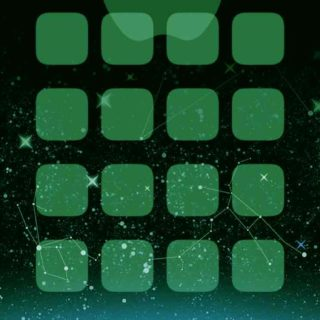 Apple logo shelf cool green space iPhone5s / iPhone5c / iPhone5 Wallpaper
