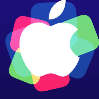 Apple logo event purple colorful iPhone5s / iPhone5c / iPhone5 Wallpaper