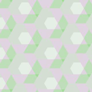Geometric pattern Green peach color iPhone5s / iPhone5c / iPhone5 Wallpaper