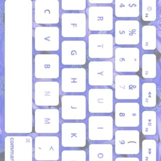 Flower keyboard Blue Pale White iPhone5s / iPhone5c / iPhone5 Wallpaper