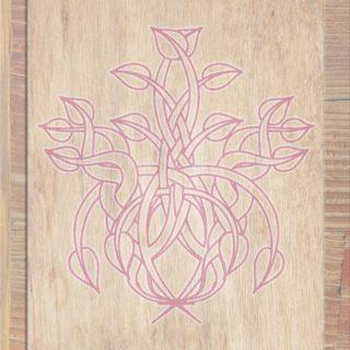 Wood grain leaves Brown red iPhone5s / iPhone5c / iPhone5 Wallpaper