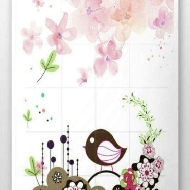 Wallpaper flower bird iPhone6s / iPhone6 Wallpaper