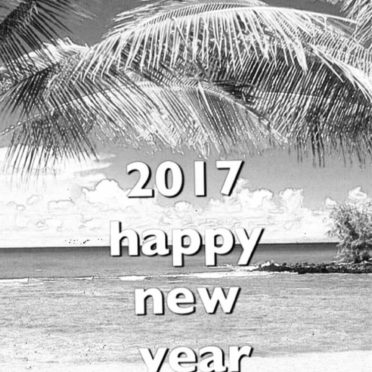 Tropical New Year iPhone6s / iPhone6 Wallpaper
