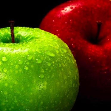 Apple  green  red  Yellow Black Cool iPhone6s / iPhone6 Wallpaper