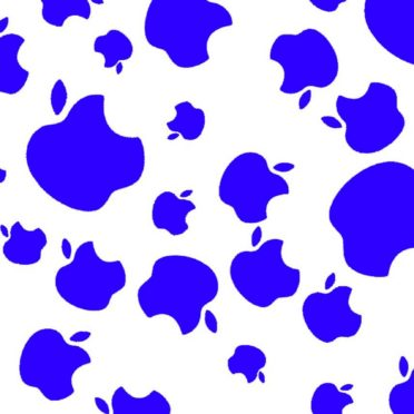 Apple logo blue iPhone6s / iPhone6 Wallpaper