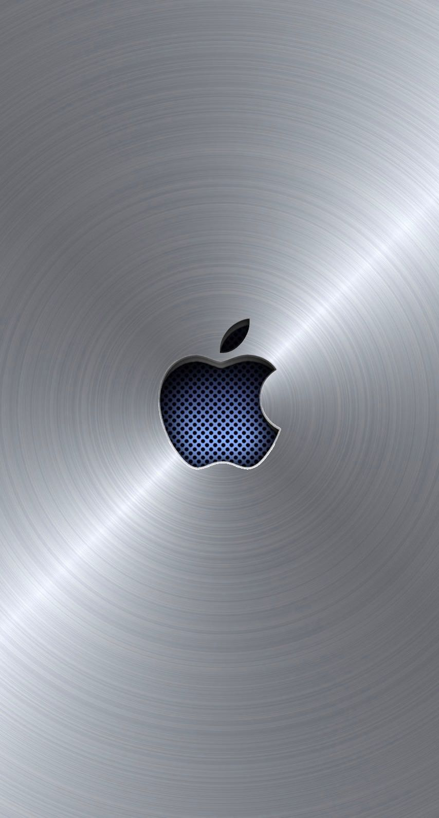 Apple logo cool blue silver | wallpaper.sc iPhone6s