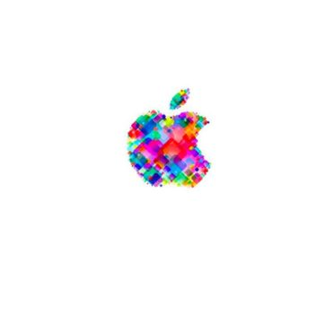 Apple logo pop colorful white iPhone6s / iPhone6 Wallpaper