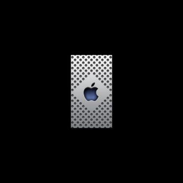 Apple logo cool blue silver iPhone6s / iPhone6 Wallpaper