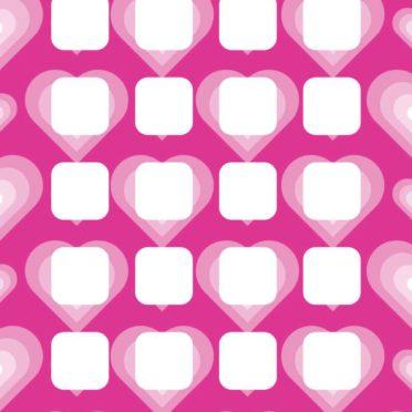Heart pattern purple red shelf for women iPhone6s / iPhone6 Wallpaper