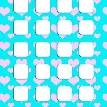 Heart pattern Tosui  blue  shelf  for girls iPhone6s / iPhone6 Wallpaper