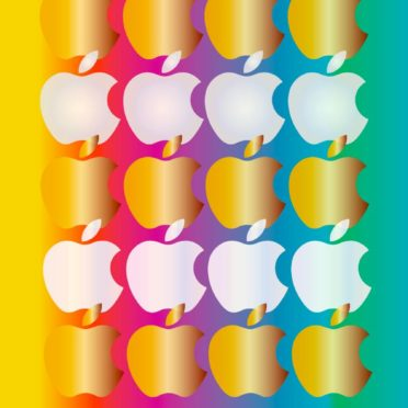 Shelf colorful gold and silver apple iPhone6s / iPhone6 Wallpaper