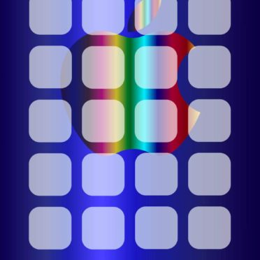 Shelf apple cool blue silver iPhone6s / iPhone6 Wallpaper