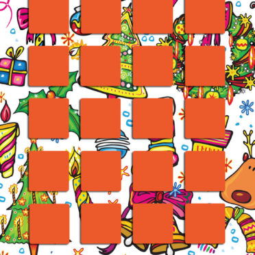 Shelf Christmas tree colorful orange woman iPhone6s / iPhone6 Wallpaper